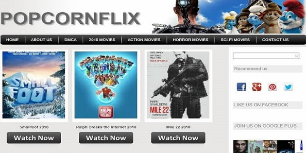 popcornflix putlocker-alternativ