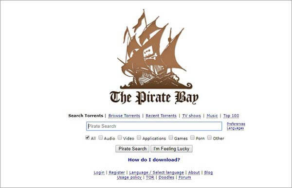 l'alternativa torrent di kickass bay pirata