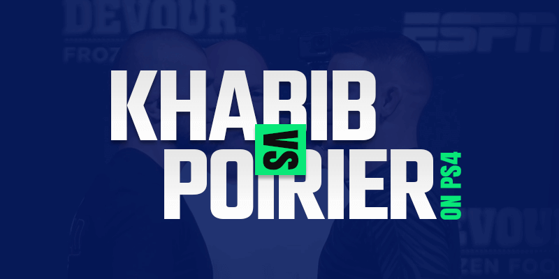 Se Khabib vs Poirier på PS4