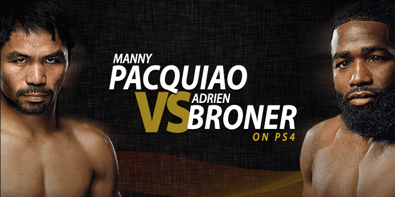 manny pacquiao vs adrien broner na ps4